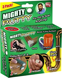 2019 New Mighty Putty Epoxy Adhesive Glue Clay Power Fix Fill Seal Gap Loophole Permanent Repair for Metal Fiberglass Wood Plastic 3 Tubes/Set 30g