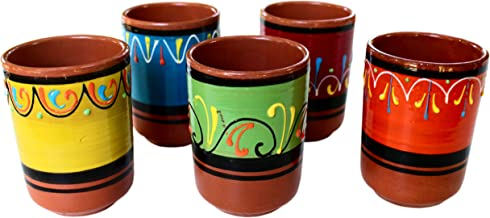 Cactus Canyon Ceramics Spanish Terracotta 5-Piece Cup Set, Multicolor