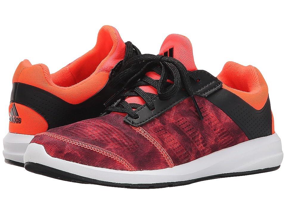adidas Kids S-flex K (Little Kid/Big Kid) (Black/Solar Red/White) Boys Shoes