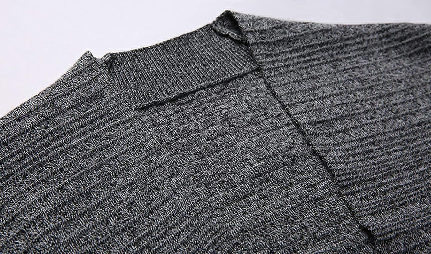 Men's Casual Work Wear V-Neck 2 Button Knitted Cardigan Sweater