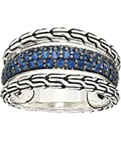 John Hardy - Classic Chain Ring with Blue Sapphire