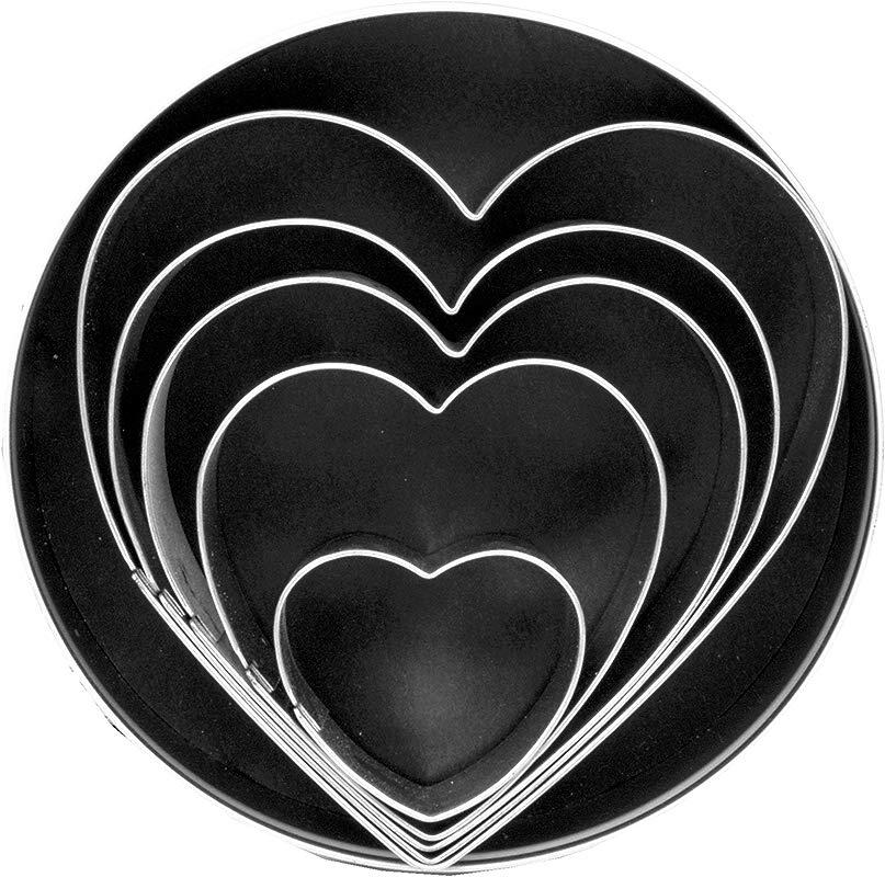 Fox Run 3680 Heart Cookie Cutters 1 X 4 X 4 Inches Metallic