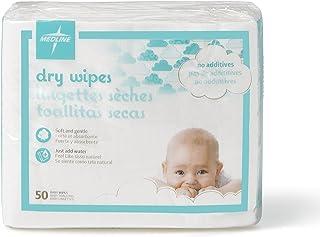 Medline BBYSOFT1013 Babysoft For Sensitive Skin Disposable Dry Cleansing Cloths, (Case of 500)