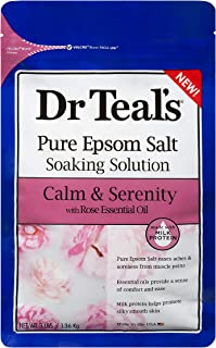 Pure Epsom Teal's Salt Soak, Calm & Serenity Rose, 3 Lbs