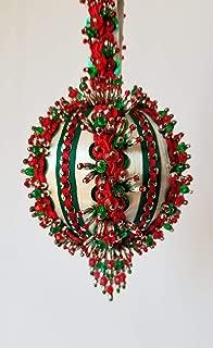 The Glimmer Tree Yuletide Greeting Beaded Ornament Kit 3