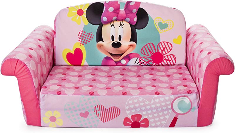 Marshmallow Furniture Children S 2 In 1 Flip Open Foam Sofa Minnie Mouse By Spin Master