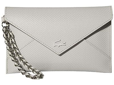 Lacoste Chantaco Chain Envelope Wallet (Azalea Pink/Silver Grey Chine) Cross Body Handbags