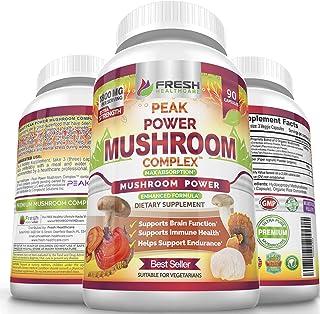 Peak Power Mushroom Supplement - Immune, Brain, Focus and Wellness Support - 6 Premium Mushroom Blend with Lions Mane, Cor...