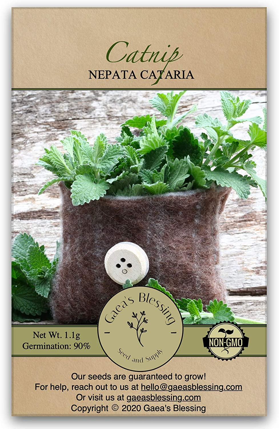 Gaea's Blessing Seeds - low-pricing Non-GMO Heirloom Max 41% OFF Catnip Ne