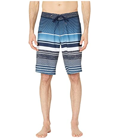 Quiksilver 21 Everyday Stripe Vee 2.0 Boardshorts Swim Trunks (Navy Blazer) Men