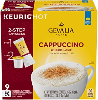 Gevalia Cappuccino Espresso K-Cup Coffee Pods & Froth Packets (36 Pods and Froth..