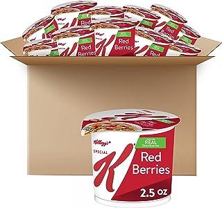 K ویژه Kellogg ، غلات صبحانه در یک فنجان ، انواع توت های قرمز ، حجم فله ، 12 عدد (بسته 12 لیوان ، 2.5 اونس فنجان)