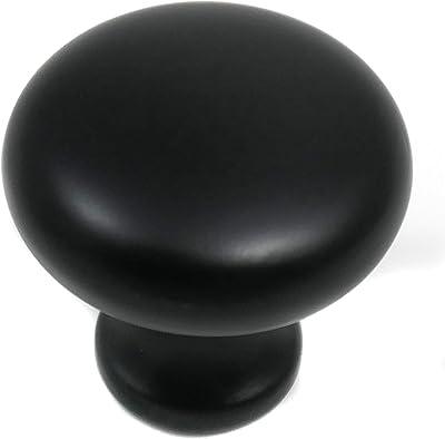 Gliderite Hardware 1 1 8 Inch Diameter Matte Black Classic Oval Cabinet Knobs Pack Of 10 Amazon Com