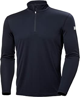 Helly Hansen Men's HH Tech 1/2 Zip Lightweight Quick Dry Moisture Wicking Active Performance Long-Sleeve Shirt Top