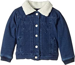 Splendid Littles - Baby French Terry Indigo Jacket with Sherpa Collar (Infant)