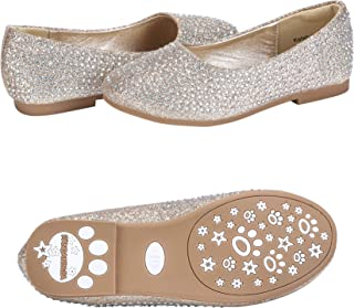 1b0ebc429600e0 PANDANINJIA Toddler Little Kids Katelyn Slip on Wedding Party Uniform  School Ballet Flower Girls Flats