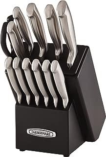 Farberware Self-Sharpening 13-Piece Knife Block Set with EdgeKeeper Technology, Black - 5191608