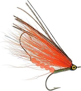 PEETZ Brook's Orange Peel 4-Inch Pro Grade McFly Fly Fishing Lure | Deceiver Streamer Bucktail Clouser Wet Freshwater Saltwater | Pike Bass Perch Walleye Salmon Trout Dorado Tarpin Bonefish