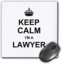 3drose Keep Calm I'm A Lawyer - Funny Law Profession Gift - Job Work Pride - Mouse Pad