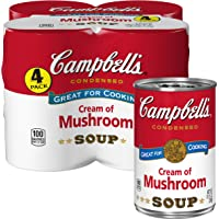 4 Count Campbell's Condensed Cream of Mushroom Soup (10.5 oz. Cans)