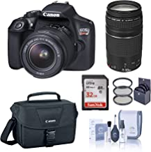 $399 » Canon EOS Rebel T6 DSLR Camera with EF-S 18-55mm and EF 75-300mm Lens Bundle with Bag, Filter Pack, 32GB SD Card, Cleaning Kit