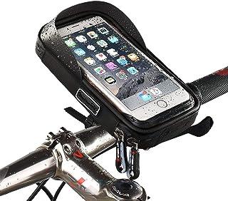 LAMONKE 自転車 スマホホルダー 防水バッグ トップチューブバッグ バイク スマホホルダー スタンド 自転車バッグ 携帯ホルダー ナビホルダー フレームバッグ Android/iPhone多機種対応 6.0インチ以内スマホ対応 防水 遮光...