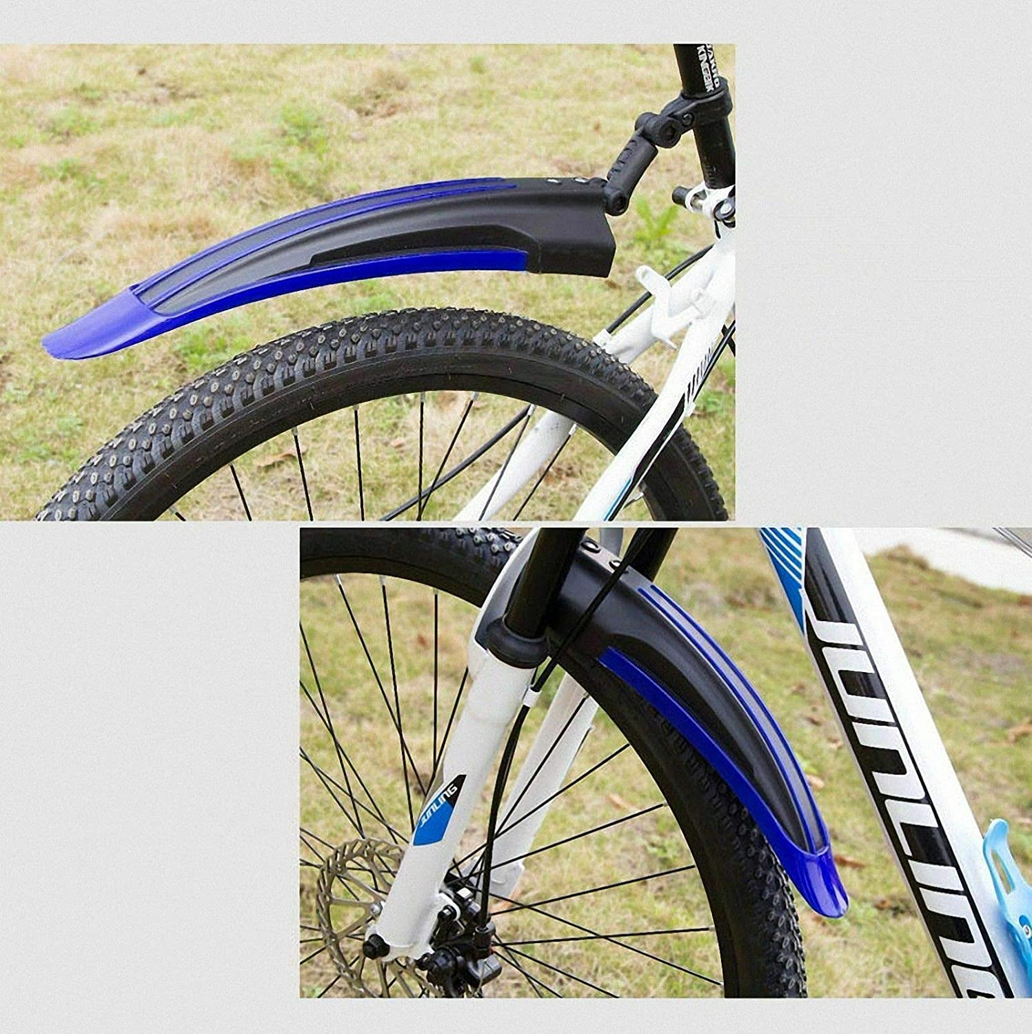 Riloer 2 Pcs Bicycle Fenders,Mountain Road Bike Mudguard,Front Rear Mud Guards Fender for Cycling Tire Cycling MTB Bike