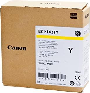 Canon BCI-1421Y Ink Tank for Wide Format Inkjet Printers, 330 mL, Yellow