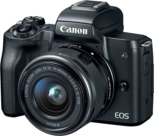 Canon EOS M50 24.1MP Mirrorless Camera (Black) with EF-M 15-45 is STM Lens product image