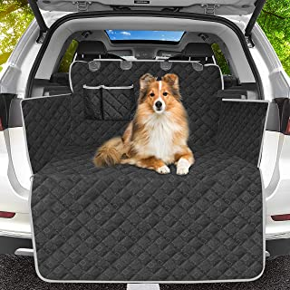 OMORC Kofferraumdecke Hund Auto 100% Wasserdicht und rutschfest,Kofferraumschutz Hund Kofferraummatte Hund mit Seitenschutz, Kation Muster Tuch Universal Auto Kofferraum Hundedecke