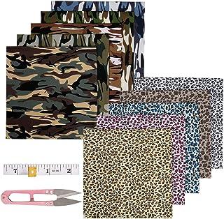 10 Piezas Tela Algodon Telas Patchwork 50 CM x 50CM, ZWOOS Telas para Manualidades DIY Tela de Algodón de Dibujos Paquete de Tela para Patchwork Acolchado Almohadas Cojín