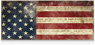 WEXFORD HOME Porch & Den Carol Robinson 'I Pledge Allegiance' Gallery Wrapped Canvas Wall Art, 20x50,