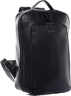 Feynsinn Laptoprucksack echt Leder Dylan groß Kurierrucksack Laptoprucksack Backpack Tagesrucksack Laptopfach 15.6 Ledertasche Unisex schwarz