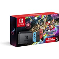 Nintendo Switch Console with Neon Blue & Neon Red Joy-Con + Mario Kart 8 Deluxe + 3 Month Nintendo Switch Online Individual Membership