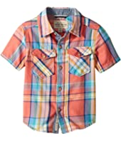 Lucky Brand Kids Short Sleeve Yarn-Dyed Plaid Shirt (Toddler)