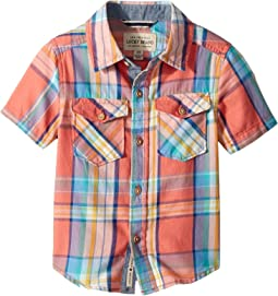 Lucky Brand Kids - Short Sleeve Yarn-Dyed Plaid Shirt (Toddler)