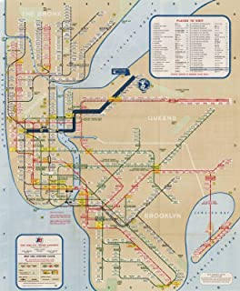 nyc mta map poster