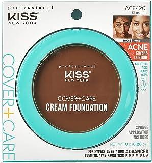 KISS Cover+Care Acne Control Cream Foundation- ACF420 (Chestnut)