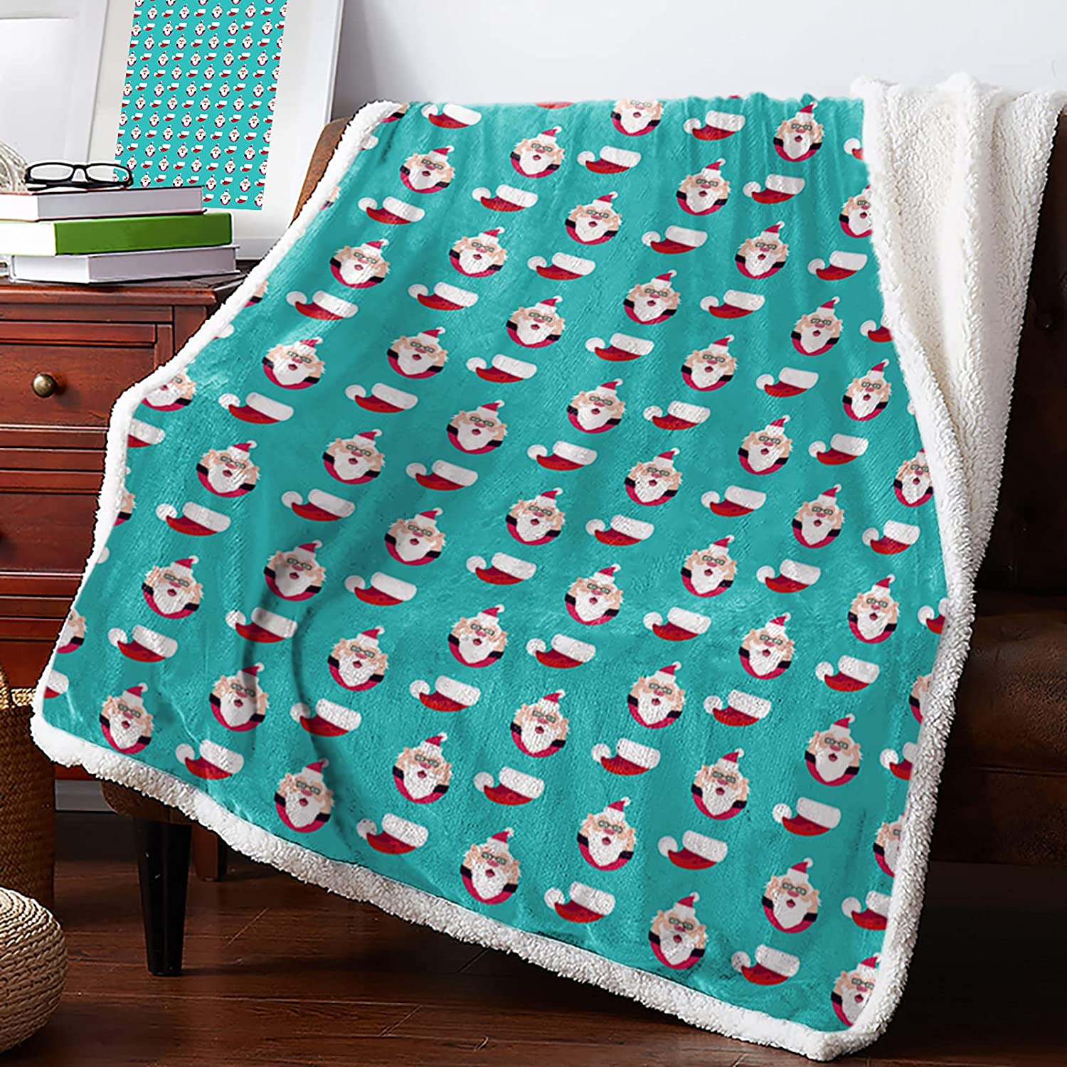 MuswannaA Sherpa Fleece Throw Max 83% OFF Blanket 70% OFF Outlet Carto Cute Christmas Merry