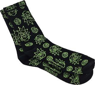Original calcetines Largos Rick Acero inoxidable, calcetines para hombre, tallas S/M/L, Zapatillas de Algodón Color Negro