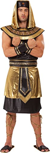 Pour des hommes Egyptian King Costume for Ancient Egypt Historic Fancy Robe Outfit Adult by Partypackage Ltd