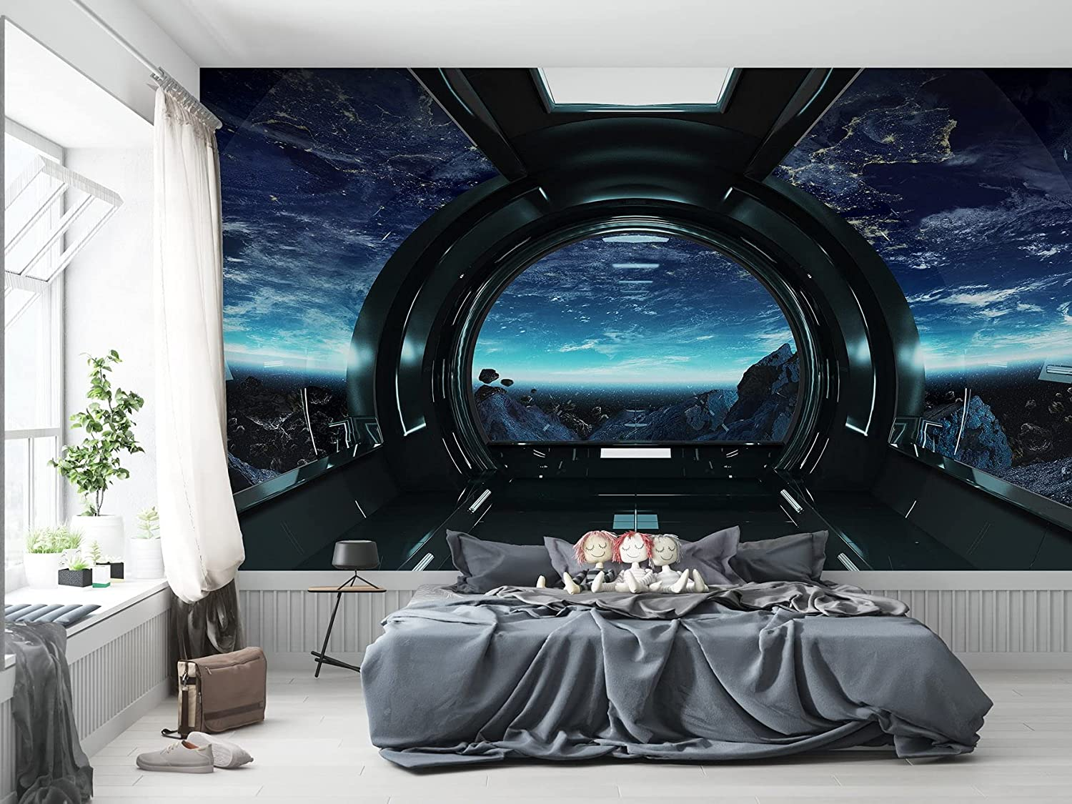 Buy Niwo Art Outer Space Views From The Spaceship A Universe Wall Mural Peel Stick Self Adhesive Large Wallpaper 96x144 Online In Turkey B0969fh3ns