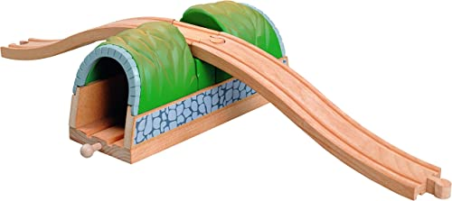 Railroad Wooden Railway - Thomas & Brio Compatible - Tunnel with Overpass 50458