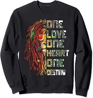 Funny One Love, One Heart Retro Bob Tee Marley For Men Women Sweatshirt