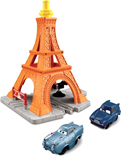 Fisher Price GeoTrax Cars 2 Eiffel Tire Crash Set