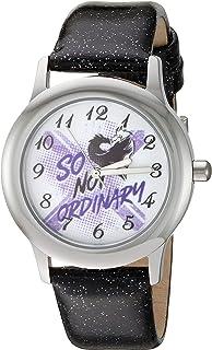ساعة ديزني ديساندنتس 3 انالوج بعقارب ستانلس ستيل بسوار جلدي - لون اسود - WDS000771