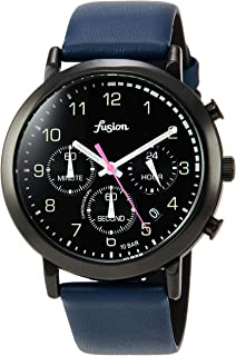 [セイコーウォッチ] 腕時計 アルバ Fusion 70年代 シティミリタリーテイスト クロノグラフ付き 黒文字盤 カーブハードレックス 日常生活用強化防水(10気圧) AFST401 ブルー