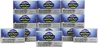 Wild Planet Wild Sardines in Extra Virgin Olive Oil with Sea Salt, Skinless &..