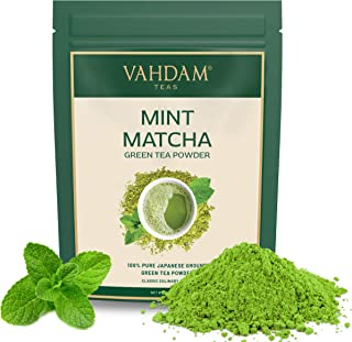 Sponsored Ad - VAHDAM, MINT + MATCHA Green Tea Powder - Brew Delicious Mint Matcha Latte | POWERFUL SUPERFOODS BLEND | Pur...