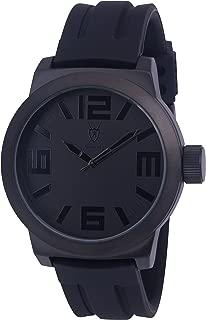 Konigswerk Men's Watch Black with Hands Silicone Band, Quartz Analog Waterproof Wrist Watch Luxury Sports Casual Dress